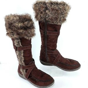 American Eagle 6.5 Faux Suede/Fur Fashion Boots